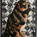painting of a calico cat, Miss Cali