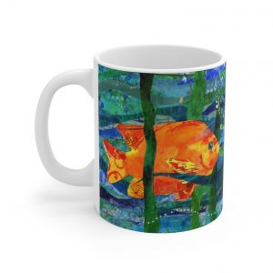 Coffee mug with poppyfish