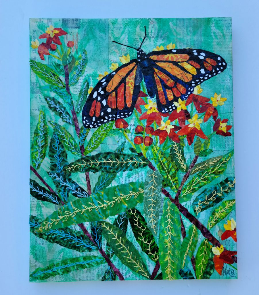 the finished butterfly painting
