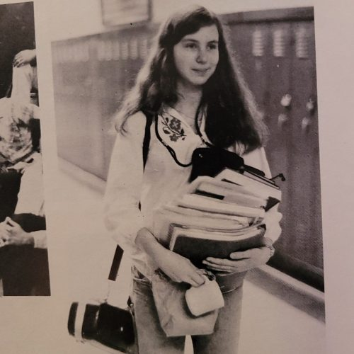 photo from high school yearbook
